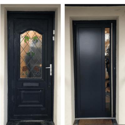 Aluminium Door with electric locking