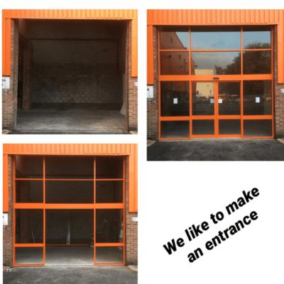 We like to make an entrance ...